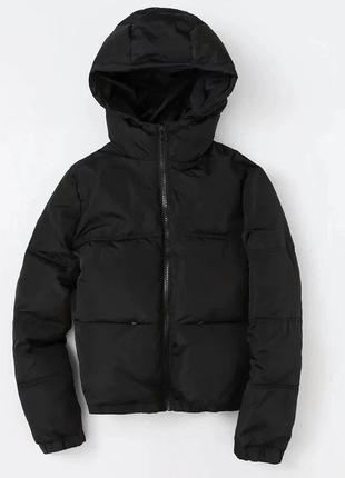 Женский пуховик куртка весна короткая черная