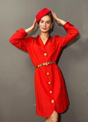 Винтажное нарядное платье италия пуговки-броши vintage retro