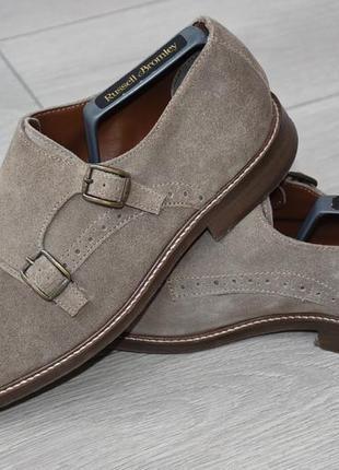 Замшевые туфли монки dune london оригинал размер 42 43 44 стелька 27,8 см кожаные