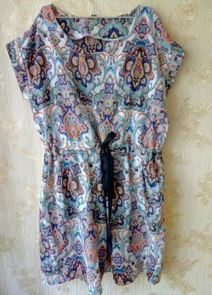 Платье  zara  в этно стиле