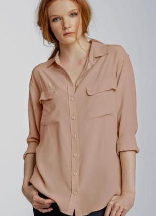 Удлиненная блузка рубашка туника свободного кроя рукав 3/4 регулируется