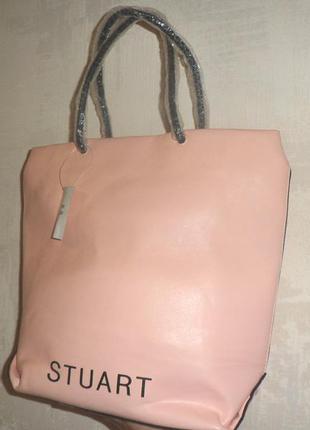 Сумка-шоппер stuart weitzman розовая