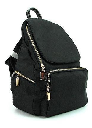 Стильный черный городской женский модный фигурный рюкзак