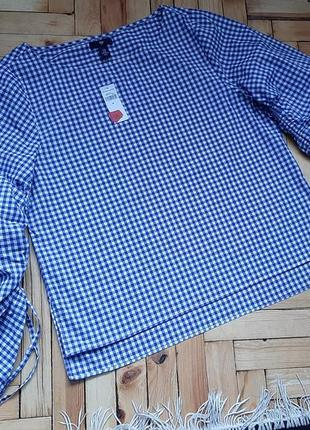 Летняя блуза с объемными рукавами