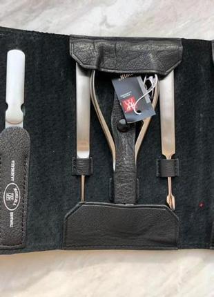 Маникюрный набор zwilling beauty twinox 7 предметов в кожаном футляре