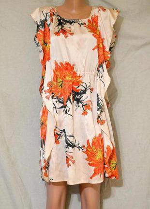 Легкое летнее платье с принтом и кармашками