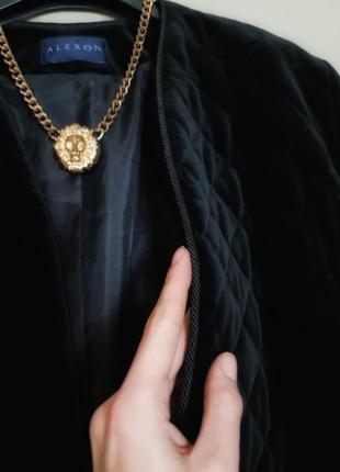 Нереальный стеганый жакет пиджак куртка из царского велюра/бархат