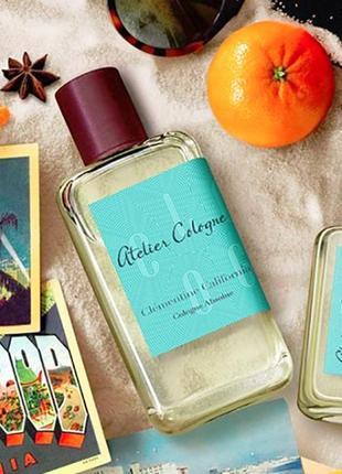 Atelier cologne clementine california оригинал_cologne 3 мл затест