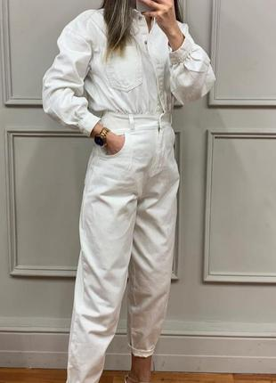 Шикарный комбинезон, белоснежный, люкс качество, стамбул, размер хл.