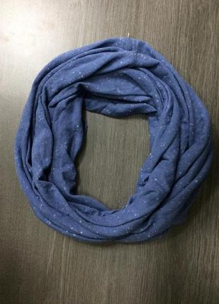Снуд шарф синий pull&bear