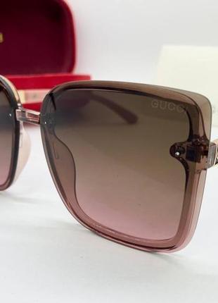 Gucci стильные женские солнцезащитные очки розовые, очки gucci