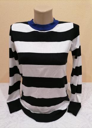 Полосатый свитер джемпер blue motion