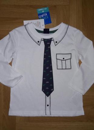 ❤️ новинка! крутой реглан лонгслив с имитацией рубашки с галстуком