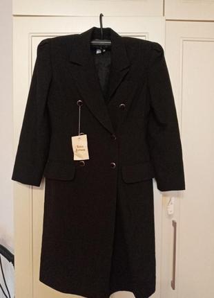 Женский черный тренч на запах пиджак жакет