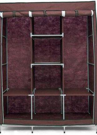 Складной каркасный тканевый шкаф storage wardrobe 88130, шкаф на три секции 13045175