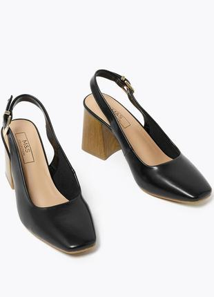 Стильные туфли квадратный носок