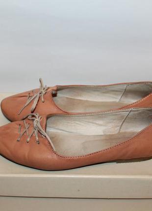 Натуральные кожаные балетки, туфли nivelle