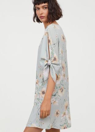 Летнее платье h&m цветочный принт из вискозы