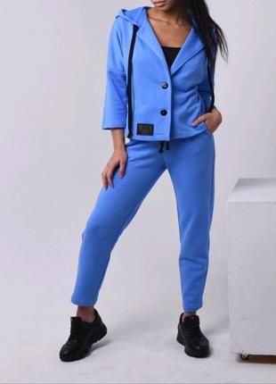 Стильний, модний трикотажний жіночий костюм м.3179