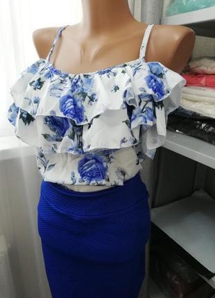 Распродажа, последний! костюм юбка миди +майка софт, женский костюм (арт 804)