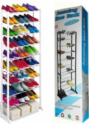 Подставка для обуви на 30 пар amazing shoe rack
