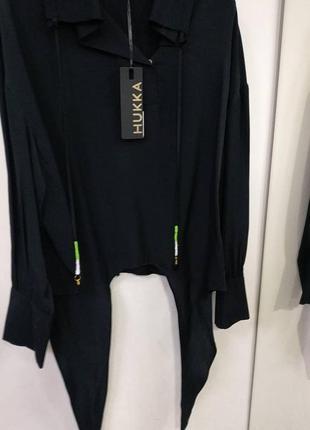 Костюм двійка- спідниця блузка чорний  hukka