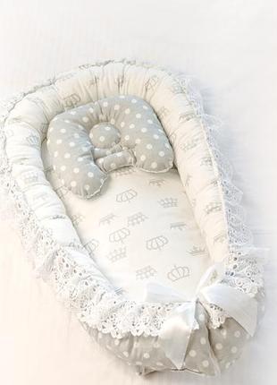 Кокон гнездышко позицинер для новорожденных бебинест