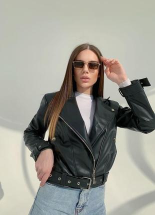 Куртка-косуха из кожзама