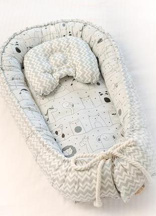 Кокон гнездышко позиционер для новорожденных детей