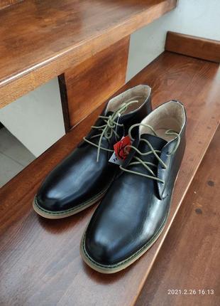 Стильні чоловічі шкіряні черевички оригінал deer stags james