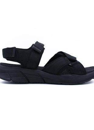 Текстильные мужские сандали скетчерс /оригінальні чоловічі сандалі skechers