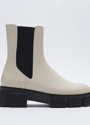 Ботинки zara, размер 41, кожа.