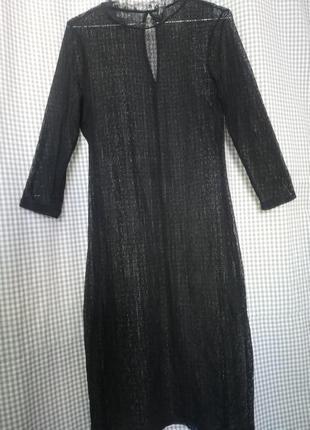 Платье туника сетка гиппюр кружево прозрачное сексуальное пеньюар пляжное