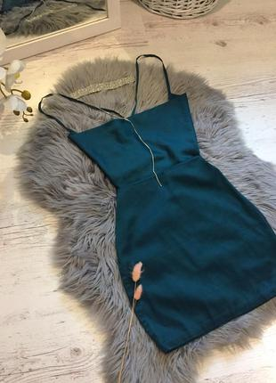 Сатиновое платье oh polly в бельевом стиле с открытой спинкой. сатинова сукня. сліп дрес