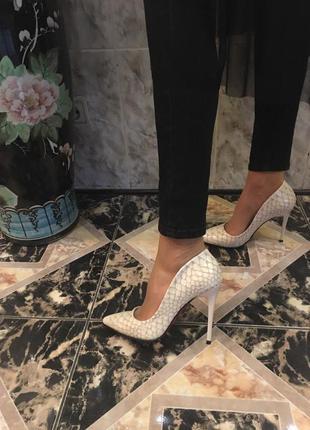 Туфли/бежевые туфли/средний каблук/женские туфли
