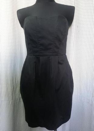 Платье корсет корсаж с на костями бандаж коктейльное базовое открытые плечи