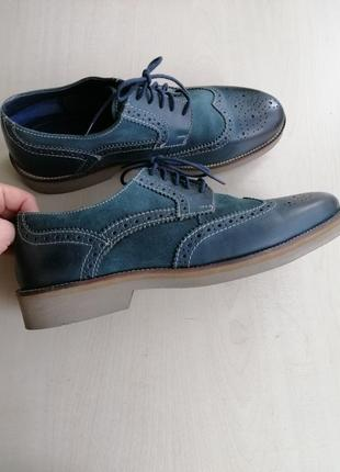 Кожаные мужские туфли cafe moda р.45.