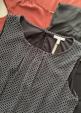 Майка, блузка шифоновая, актуальный принт