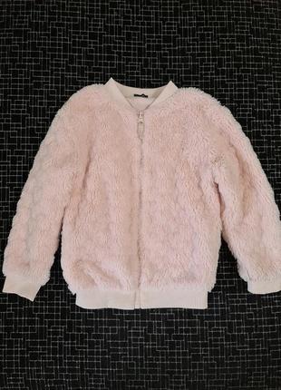 Бомбер меховой, куртка, ветровка, меховушка, кофта george 4-5 лет