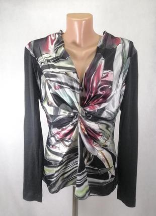 Кофта блузка с декольте натуральный шелк