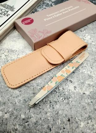 Пинцет summer & rose tweezer with pouch