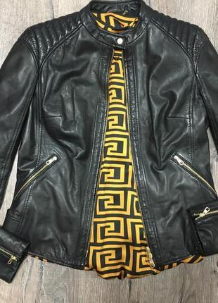 Куртка косуха hugo boss оригинал кожа