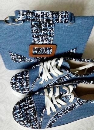 Красивый набор: кеды и сумка