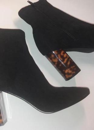 Ботинки-чулки на каблуке замшевые pimkie 41-42р