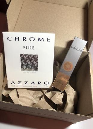 Подарочный набор мужской парфюмерии azzaro pure chrome / azzaro wanted