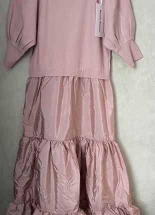 Стильное платье пудрового цвета италия