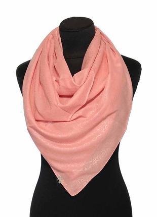 Батистовый тонкий хлопковый платок хустка хлопок однотонный персиковый новый качественный