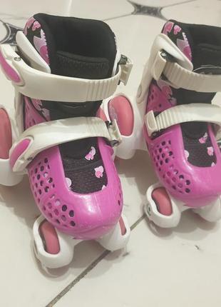 Роликовые коньки kinder quad explore розовый