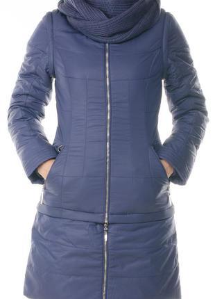 Очень теплая стеганная зимняя куртка - трансформер daser