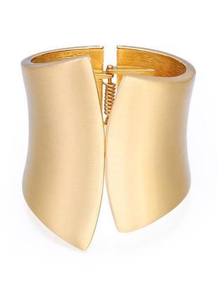 Красивый широкий браслет на руку бижутерия золот